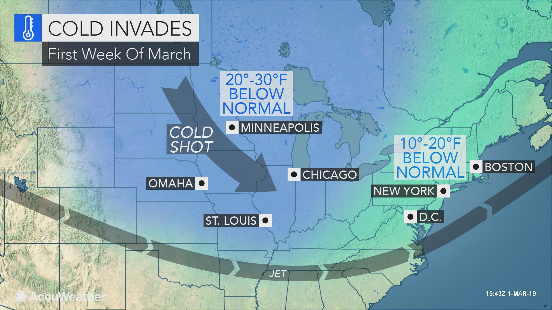 march roars in like a lion with brutal midwest northeast cold