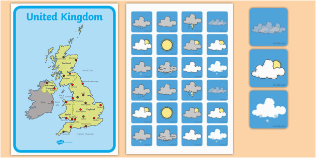 united kingdom weather forecasting role play pack