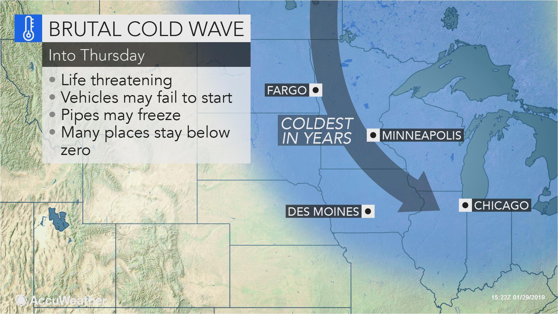 as polar vortex tightens its grip on midwestern us
