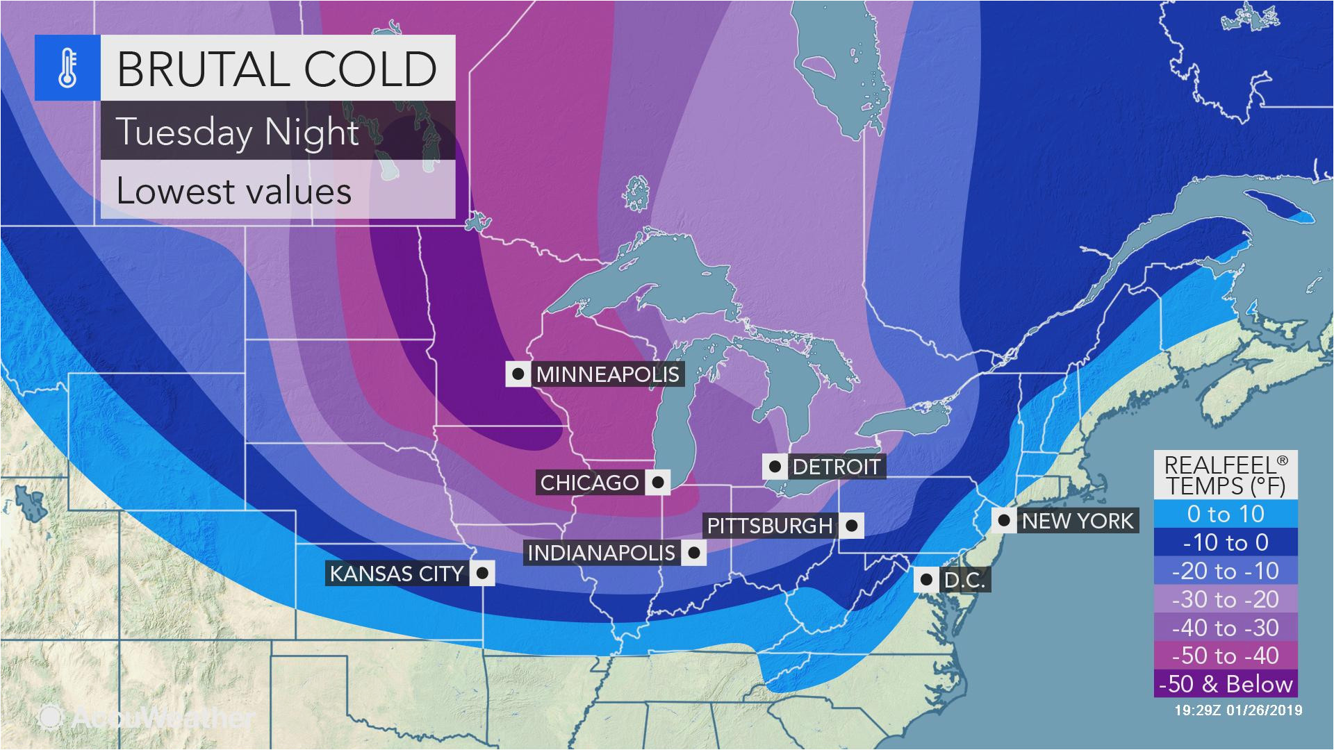 Weather Radar Map Canada Midwestern Us Braces For Coldest