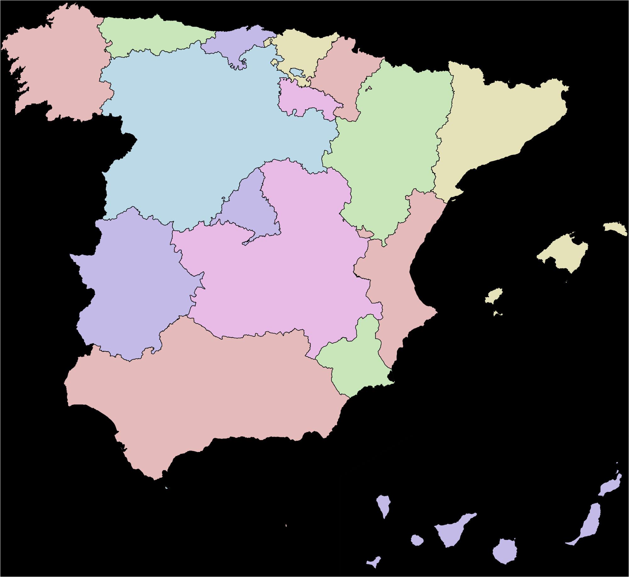 West Coast Of Spain Map Autonomous Communities Of Spain Wikipedia