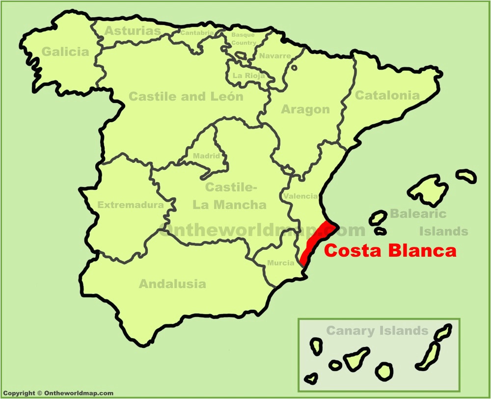 costa blanca maps spain maps of costa blanca