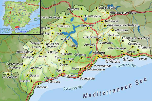 Where is Costa Del sol In Spain Map top Places to Live as An Expat On Spain S Costa Del sol