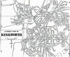 map of kenilworth warwickshire england maps coventry