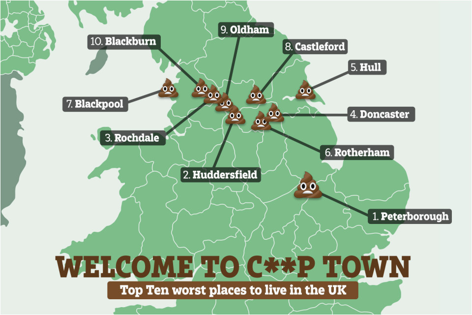 peterborough named worst place to live in england find out