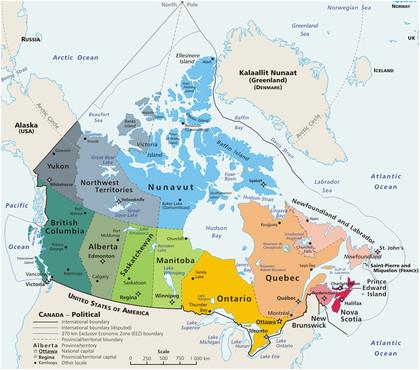 geography of canada revolvy