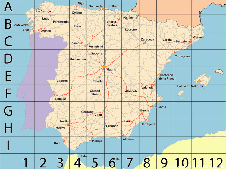 large map of spain s cities and regions