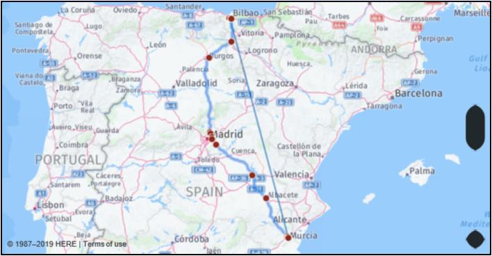 map of spain murcia