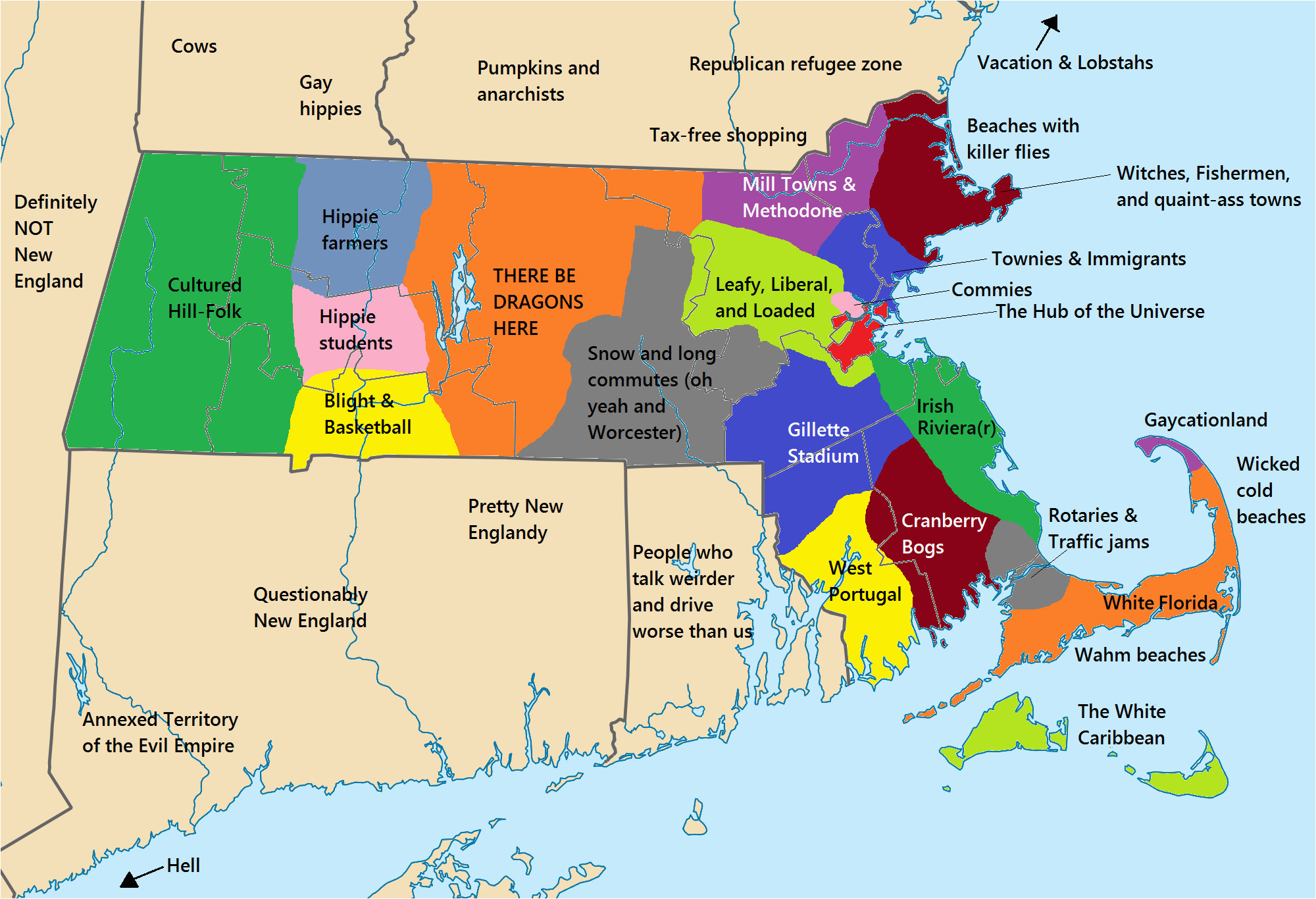 Where is New England In the Usa Map 14 Problems that Massholes Have to Face once they Move Funny