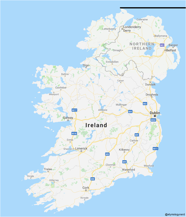 fun fact the republic of ireland extends further north than