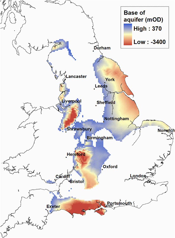 principal aquifers in england and wales aquifer shale and