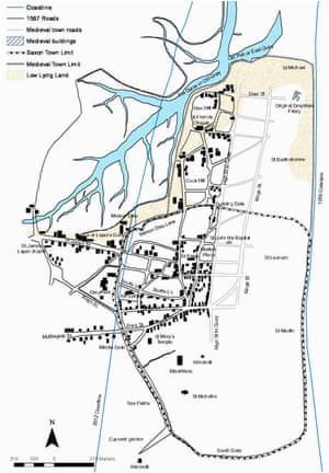 archaeologists map lost medieval suffolk town of dunwich