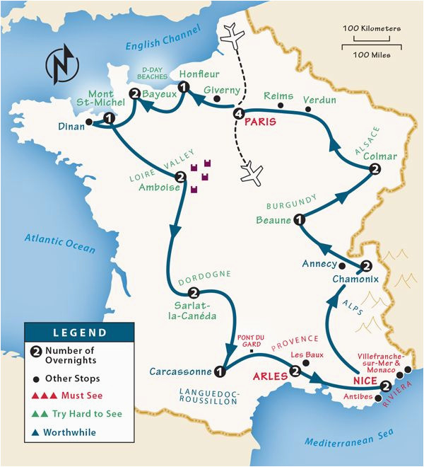 Where is tours In France Map France Itinerary where to Go In France by Rick Steves