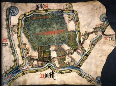 map of inclesmore in yorkshire circa 1450 mpc 1 56 maps map
