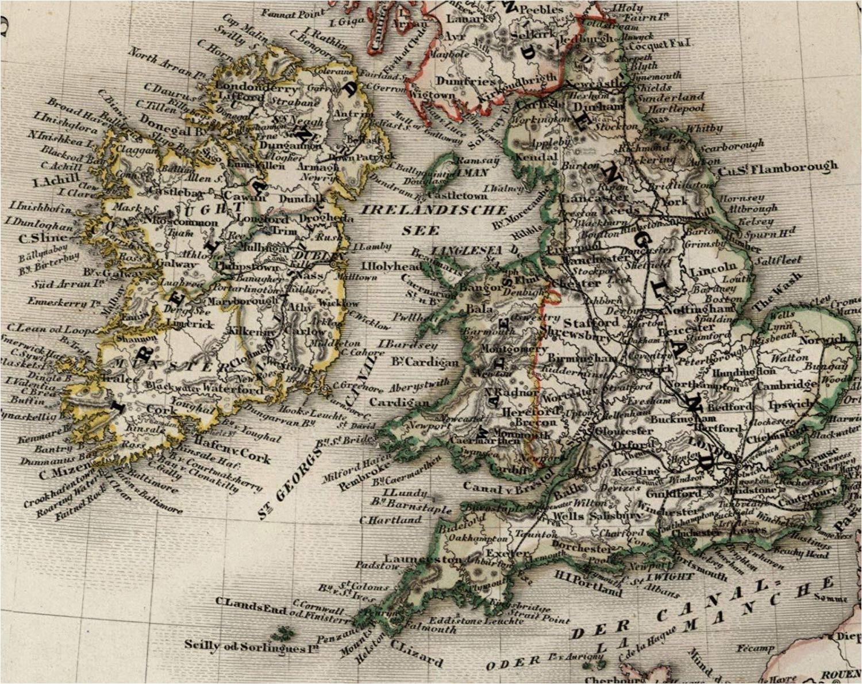 amazon com british isles united kingdom 1849 ireland scotland