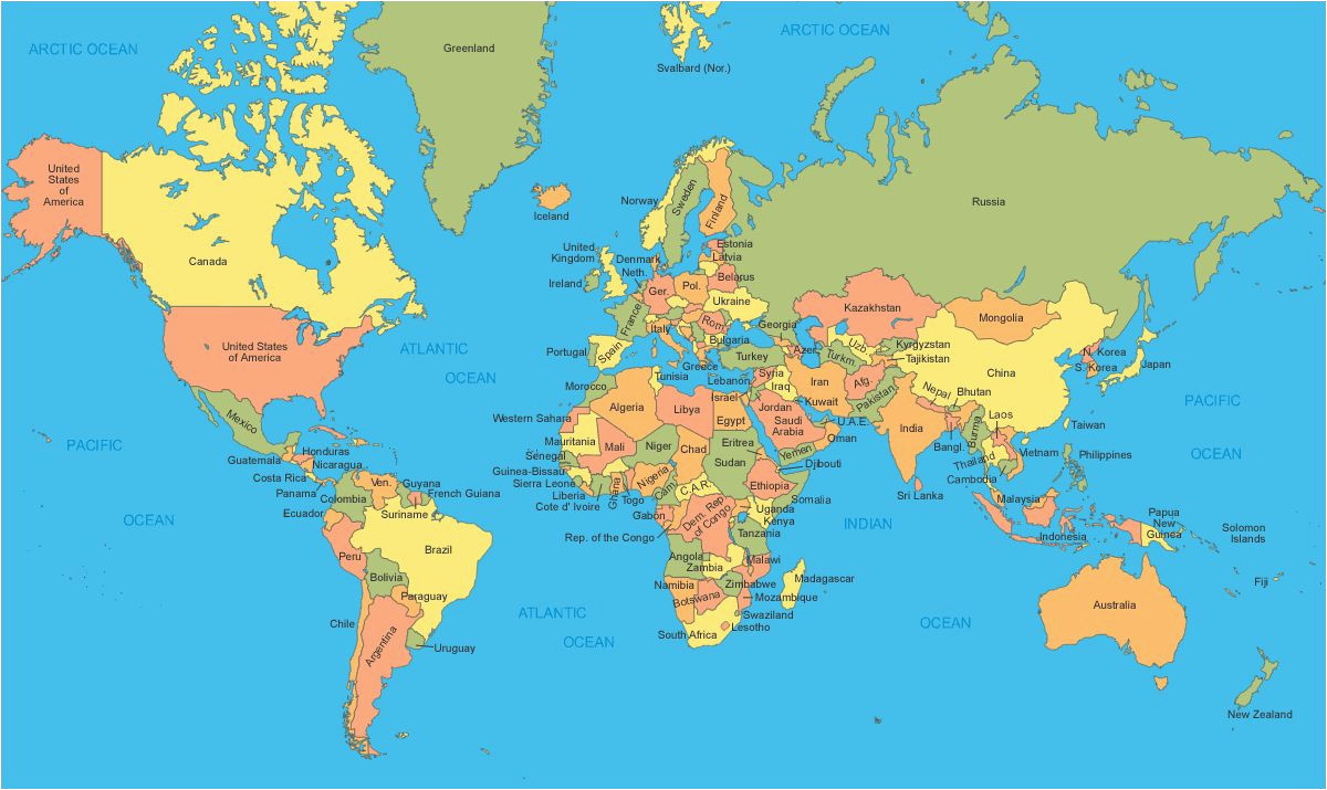 political map of the world a world maps world map with