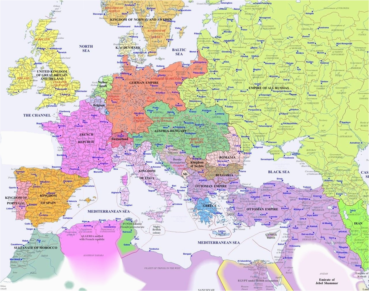historical map of europe in 1900 genealogy map