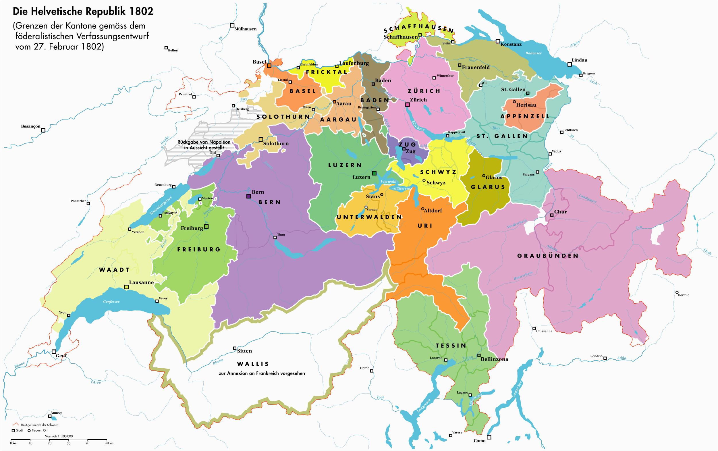 helvetian republic 1802 aaa karte schweiz kartographie