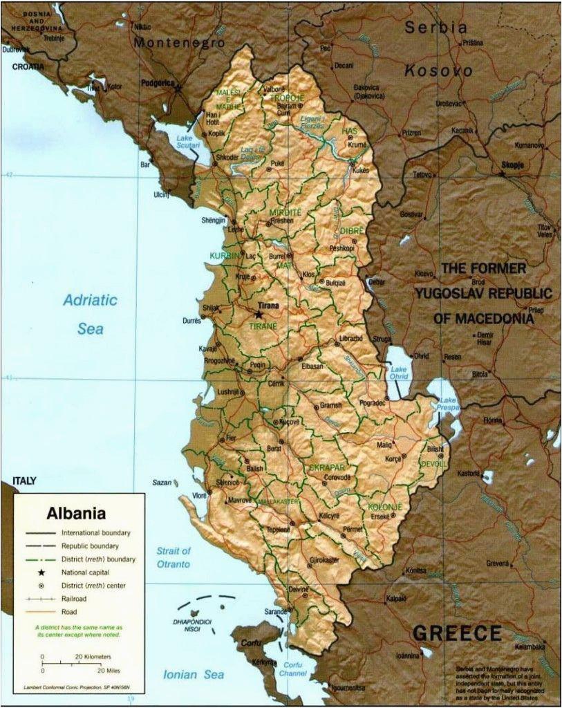 map of albania albania albania albania travel visit