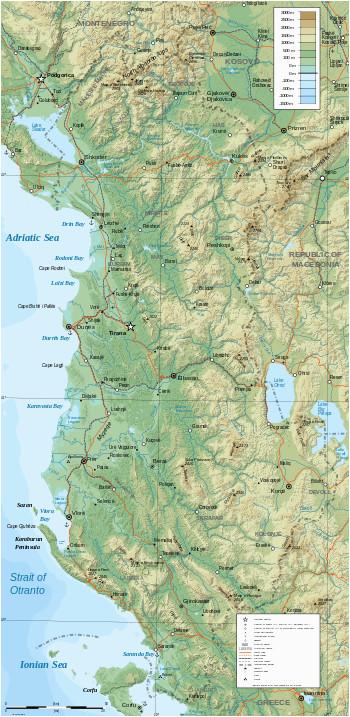 geography of albania wikipedia