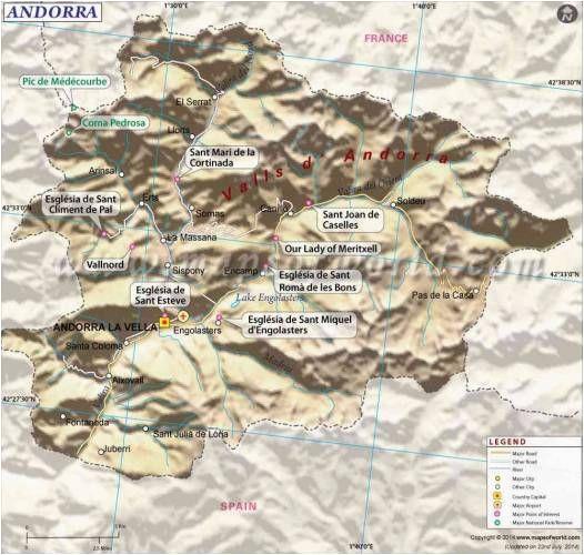 cool andorra map holidaymapq andorra map andorra map