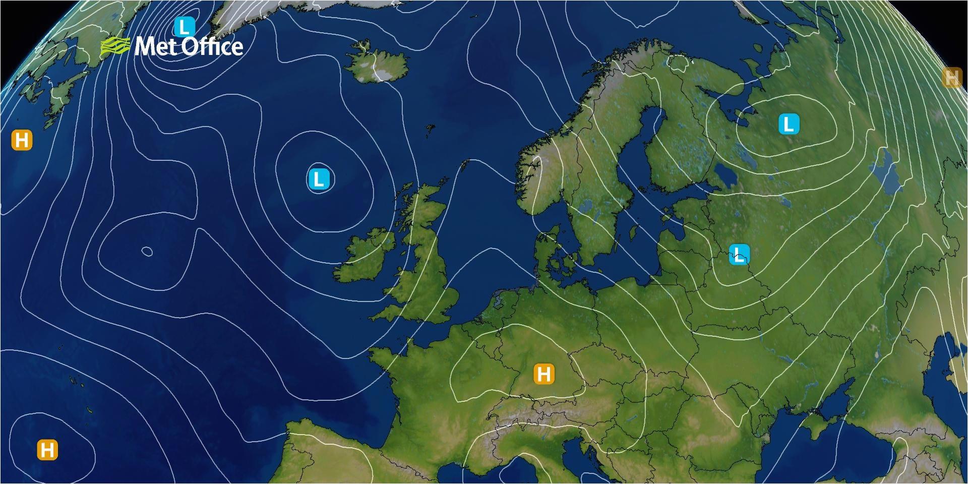 surface pressure charts met office