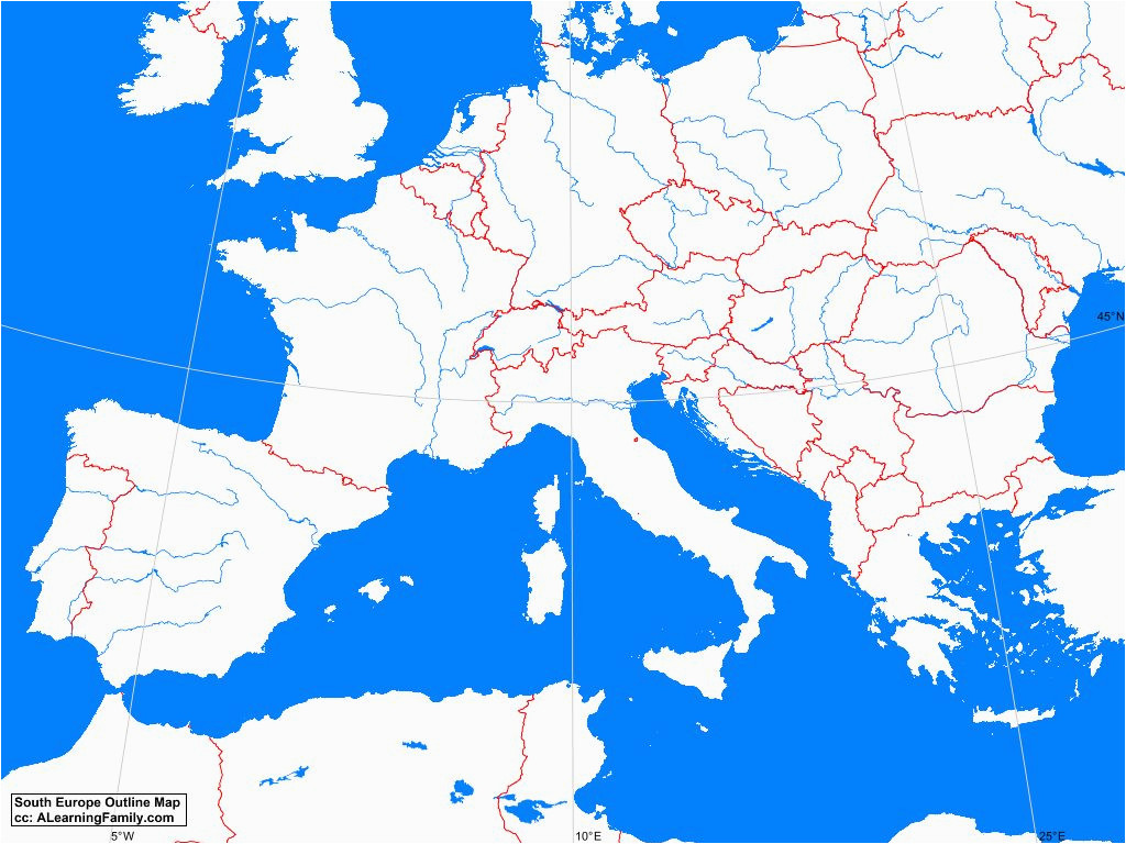 Blank Map Of southern Europe Blank A Maps 2019