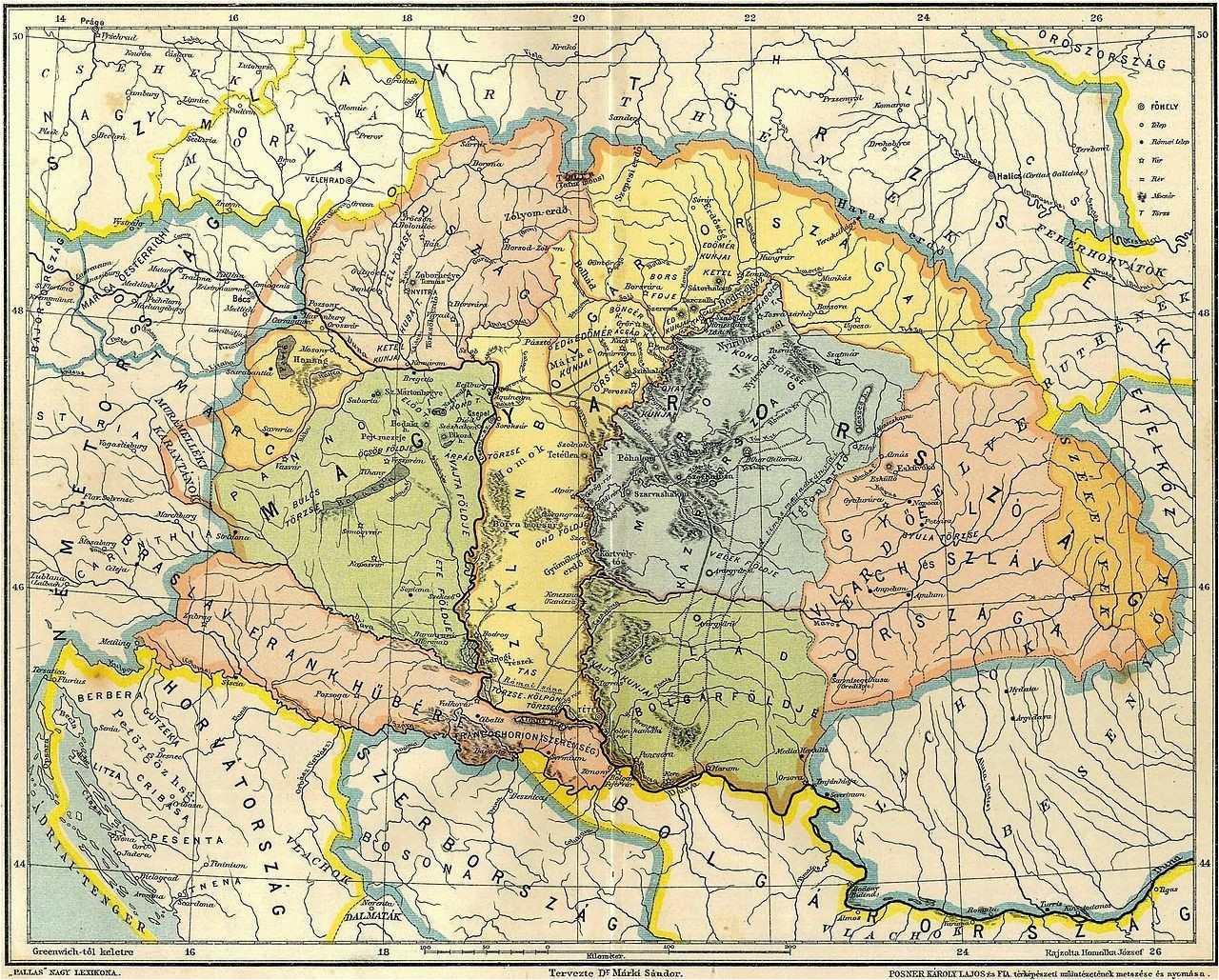 map of central europe in the 9th century before arrival of