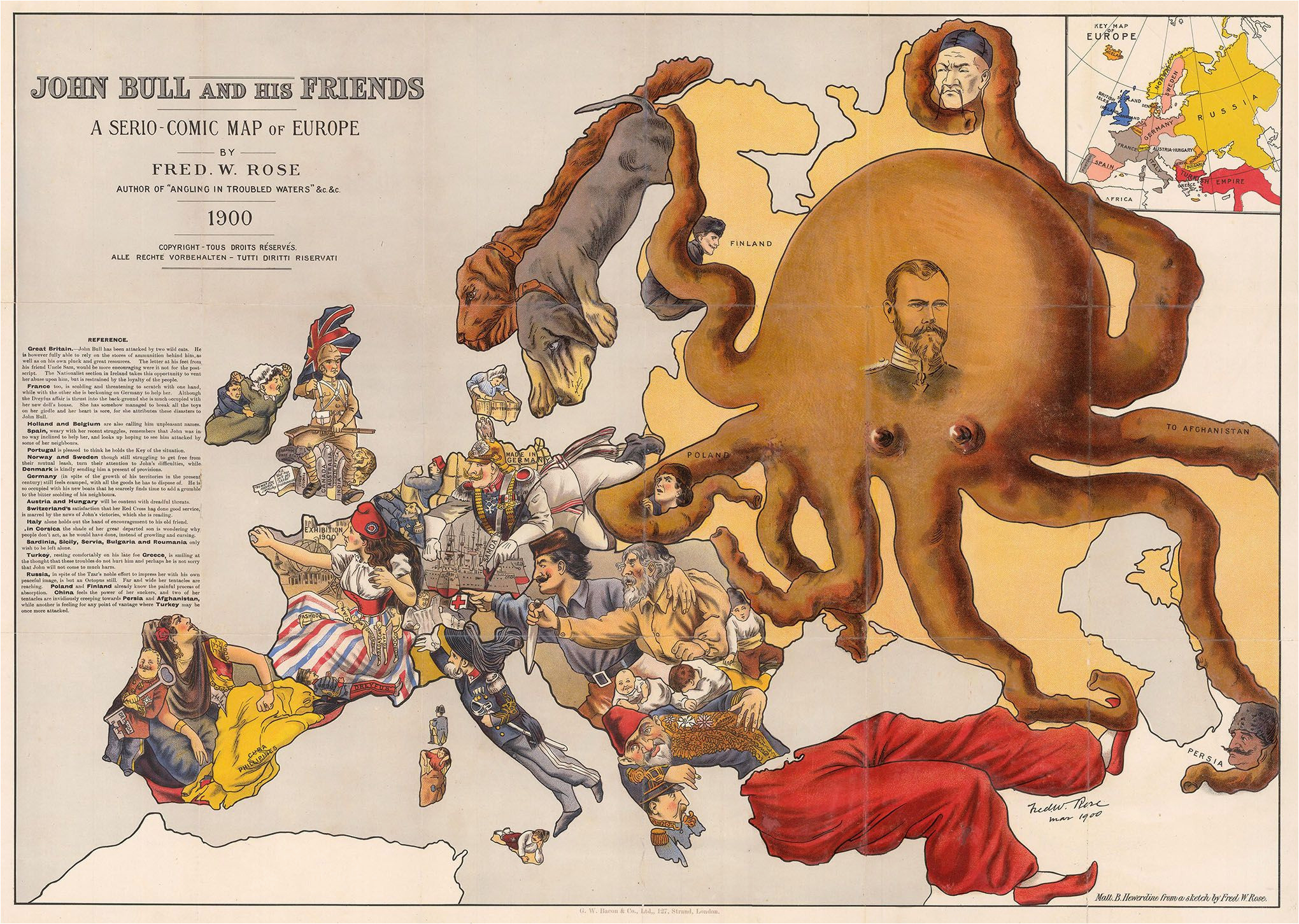 john bull and his friends a propaganda map of europe from