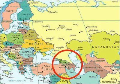 Caucasus Mountains Europe Map Caucasus Mountains Map Location Caucasus Mountains On