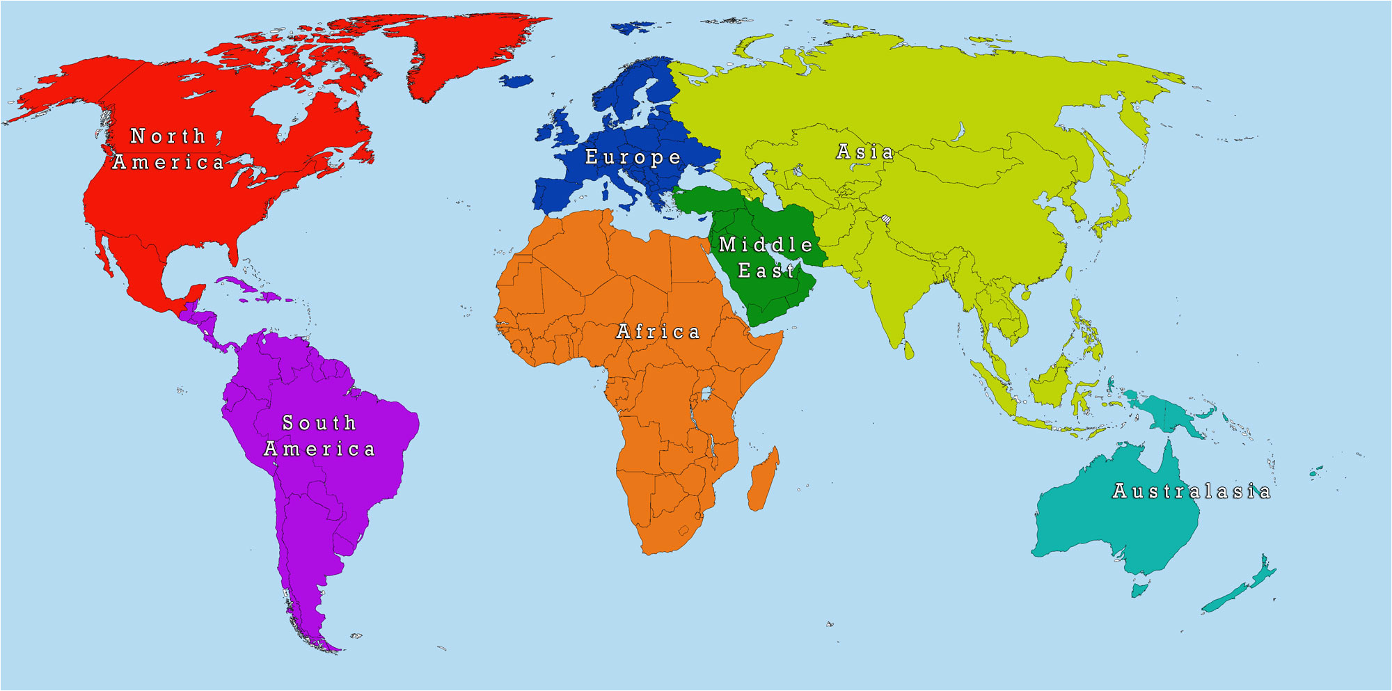 18 clearly defined the world map not labeled