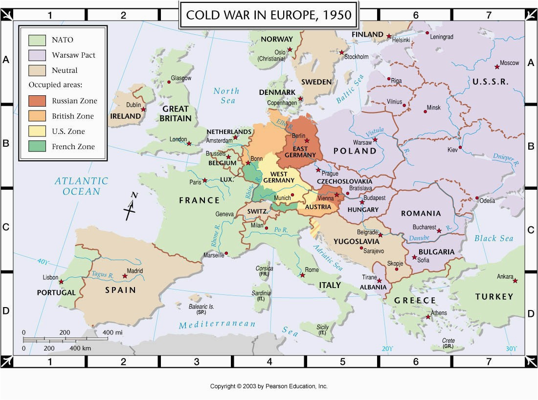 50 systematic cold war europe map labeled
