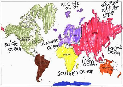 help your child review the continents by giving them a color