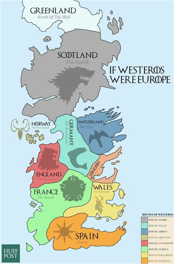 this map shows the real world equivalents of the seven