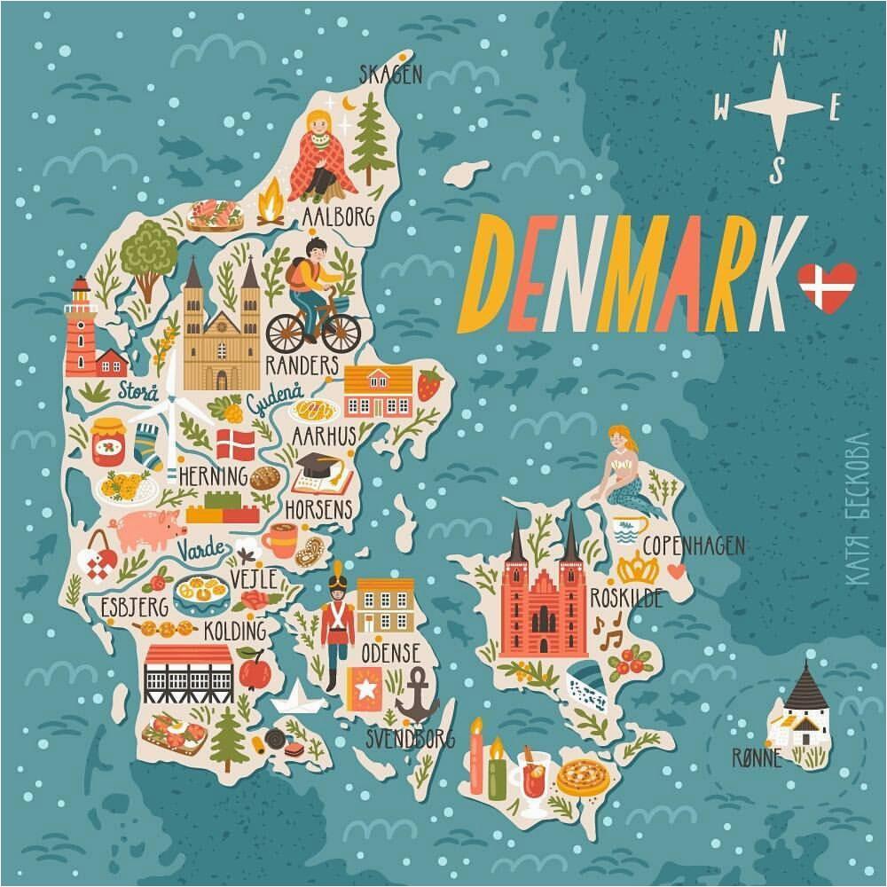 denmark map denmark in 2019 denmark map travel