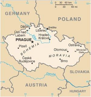 Czech Republic Map Of Europe Pin On Czech