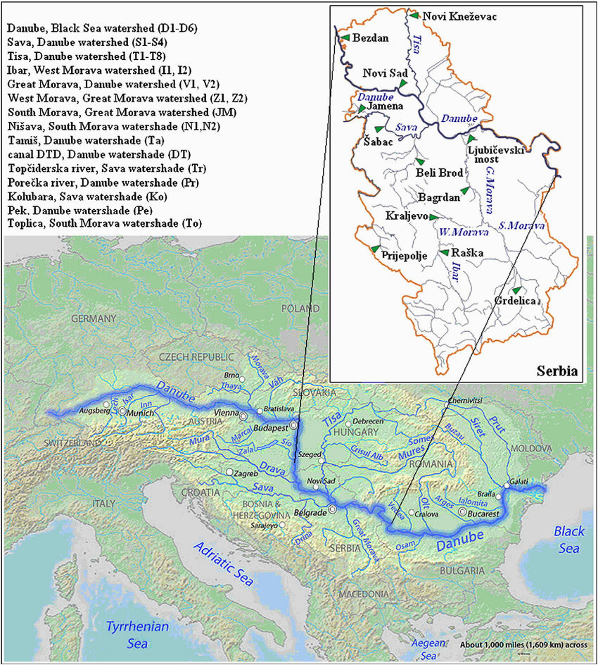 river danube map map of west