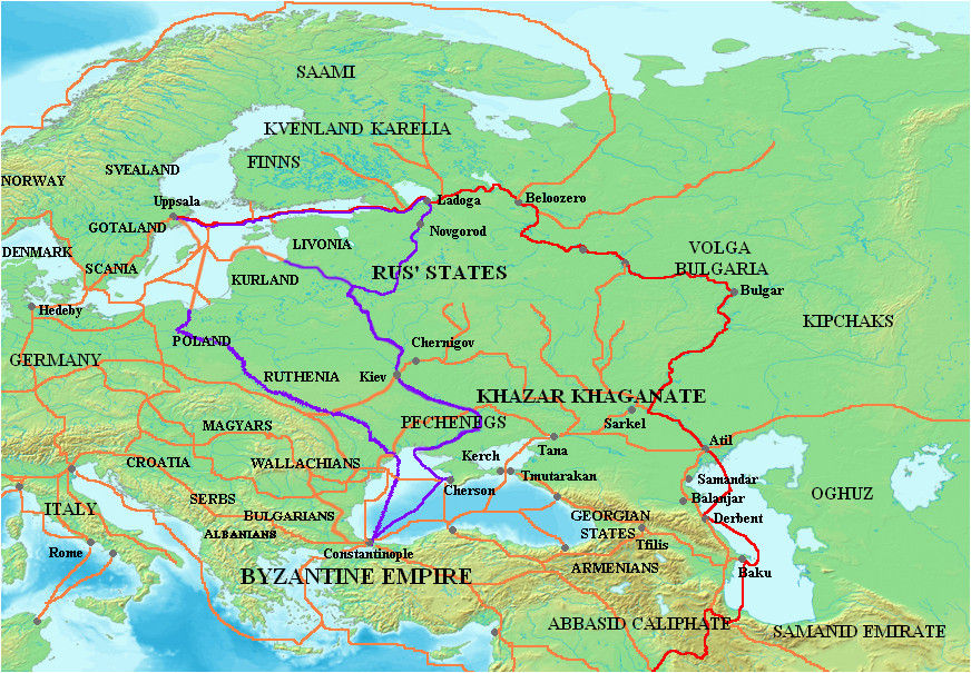trade route from the varangians to the greeks wikipedia