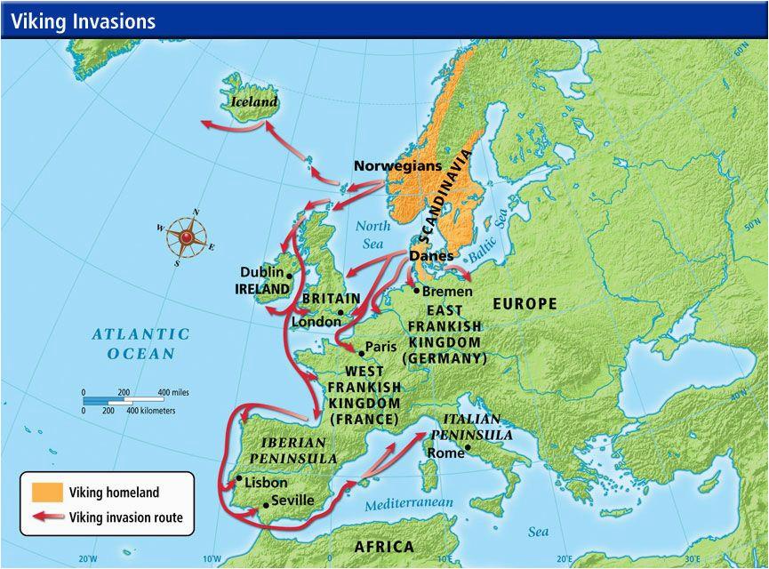 viking invasion routes viking invasion routes history
