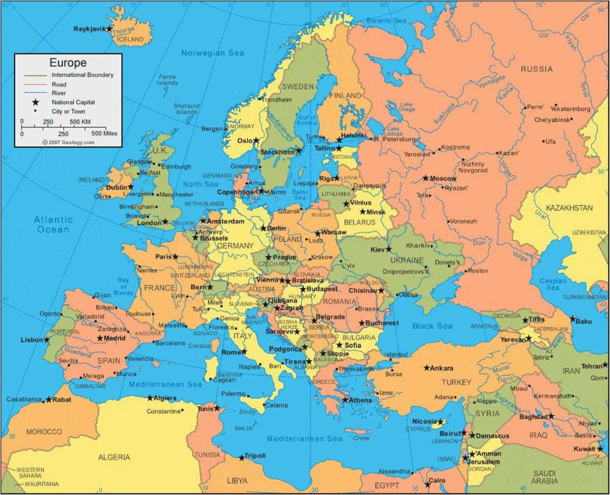 17 actual eastern europe and russia map