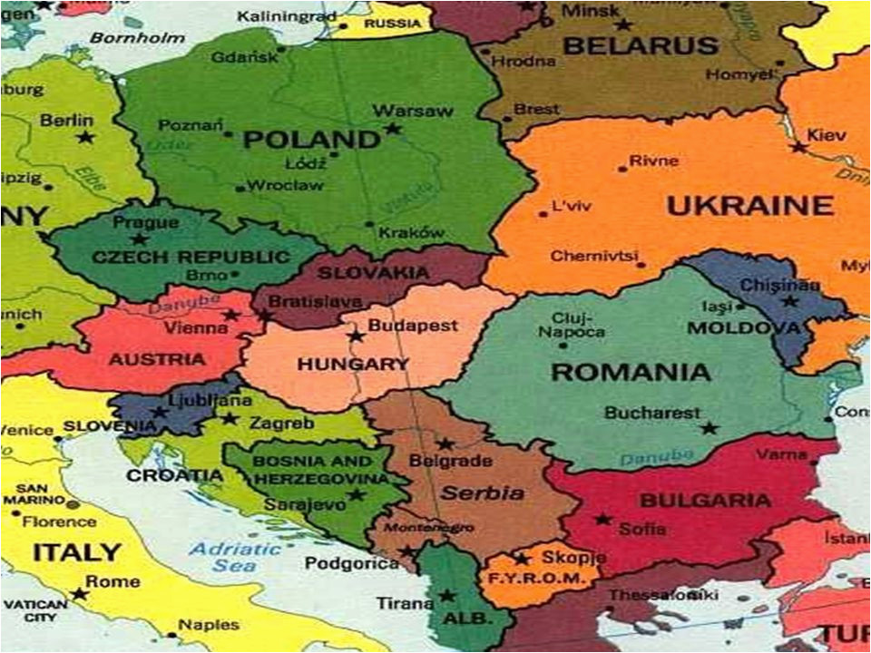 25 categorical map of eastern europe and capitals