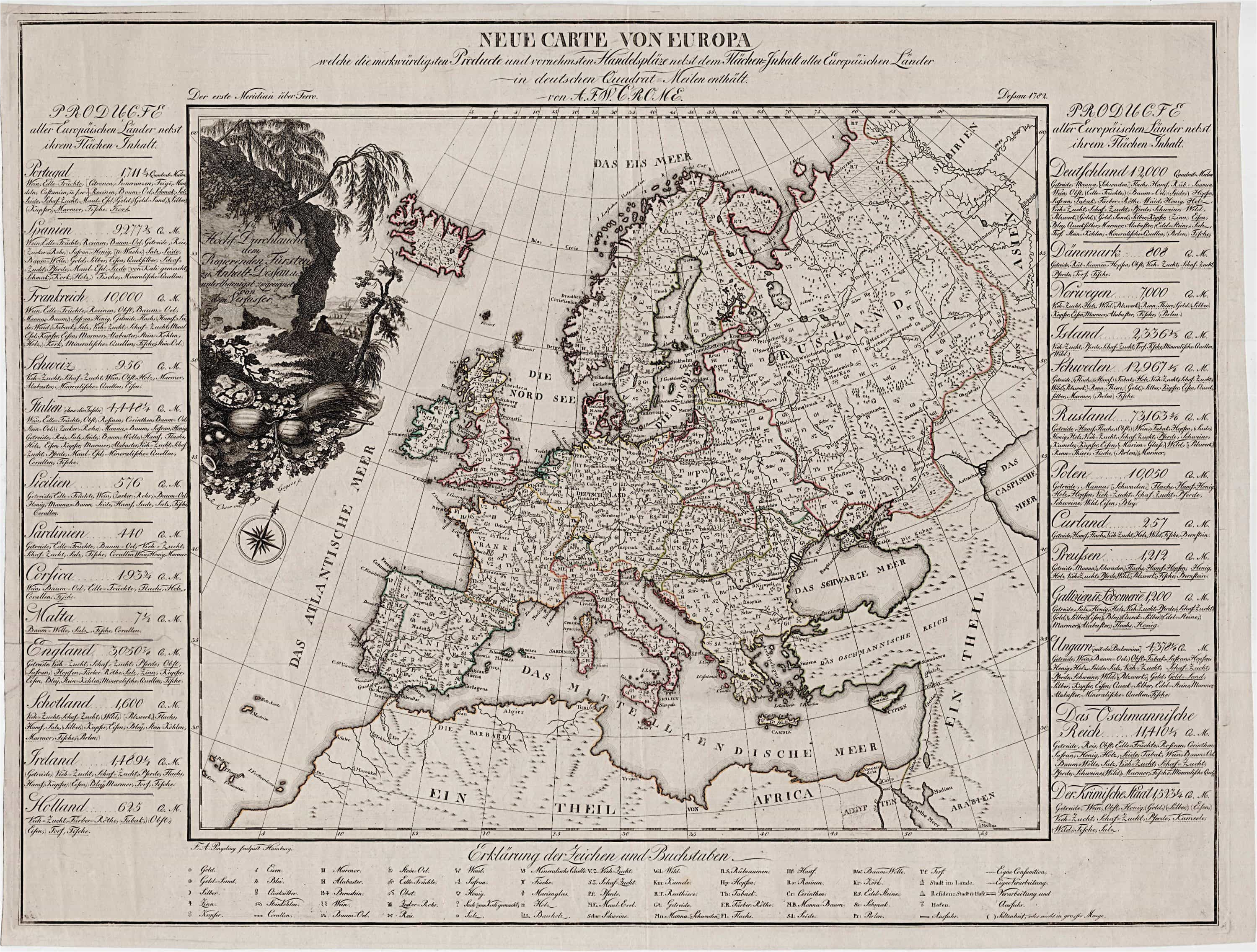 Economic Activity Map Of Europe the First attempt at Economic Mapping Rare Antique Maps