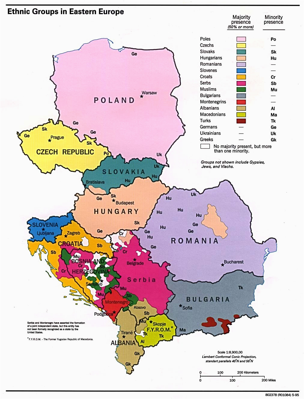 Ethnic Map Of Europe Ethnic Groups In Eastern Europe 1012 A 1326 Mapporn