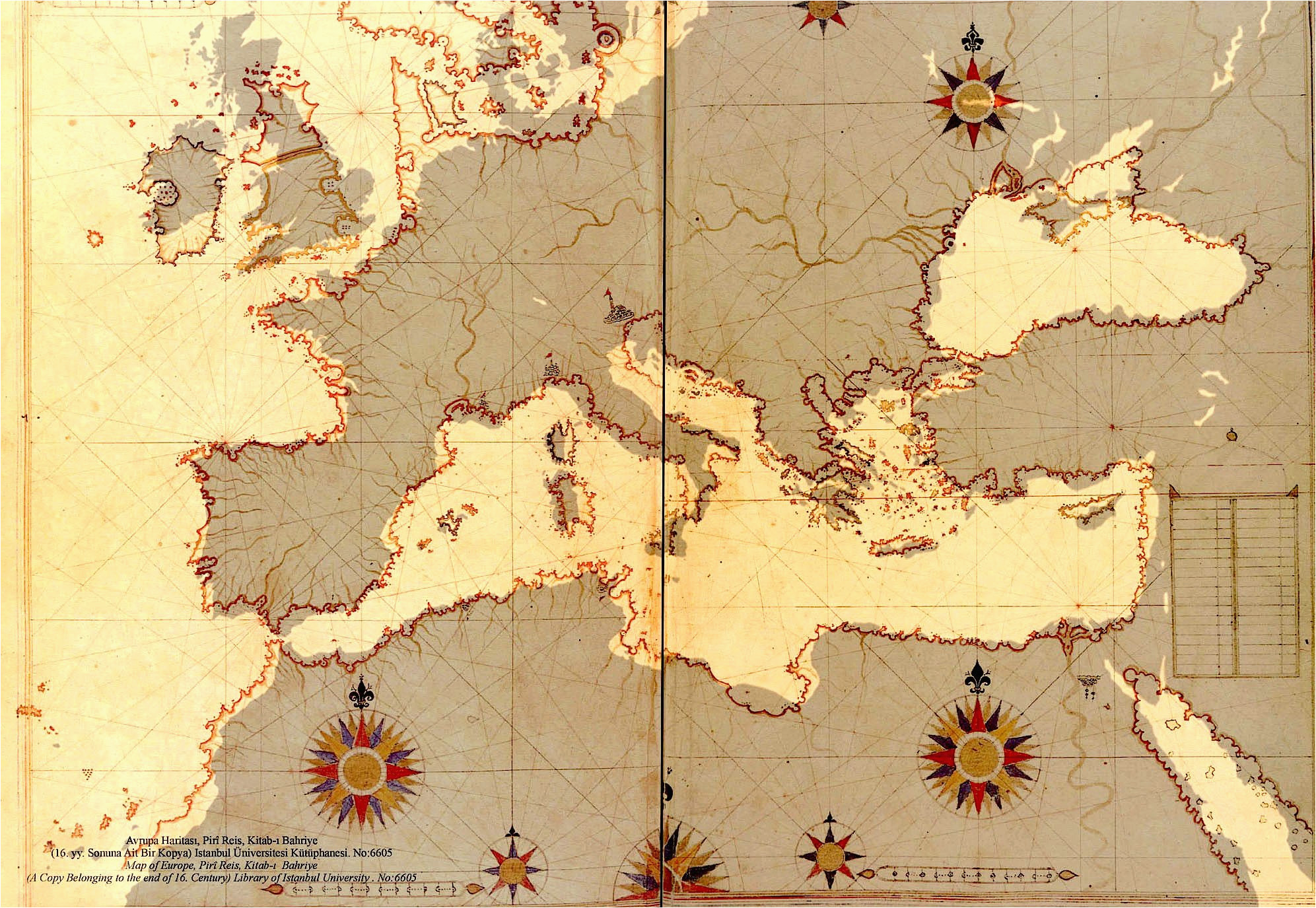Europe 16th Century Map 16th Century Ottoman Map Of Europe On A Modern Map Of Europe