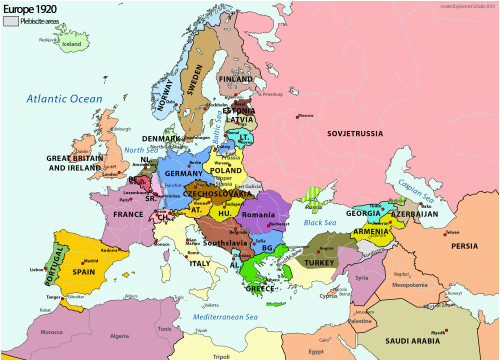 Europe 1915 Map Europe In 1920 the Power Of Maps Map Historical Maps