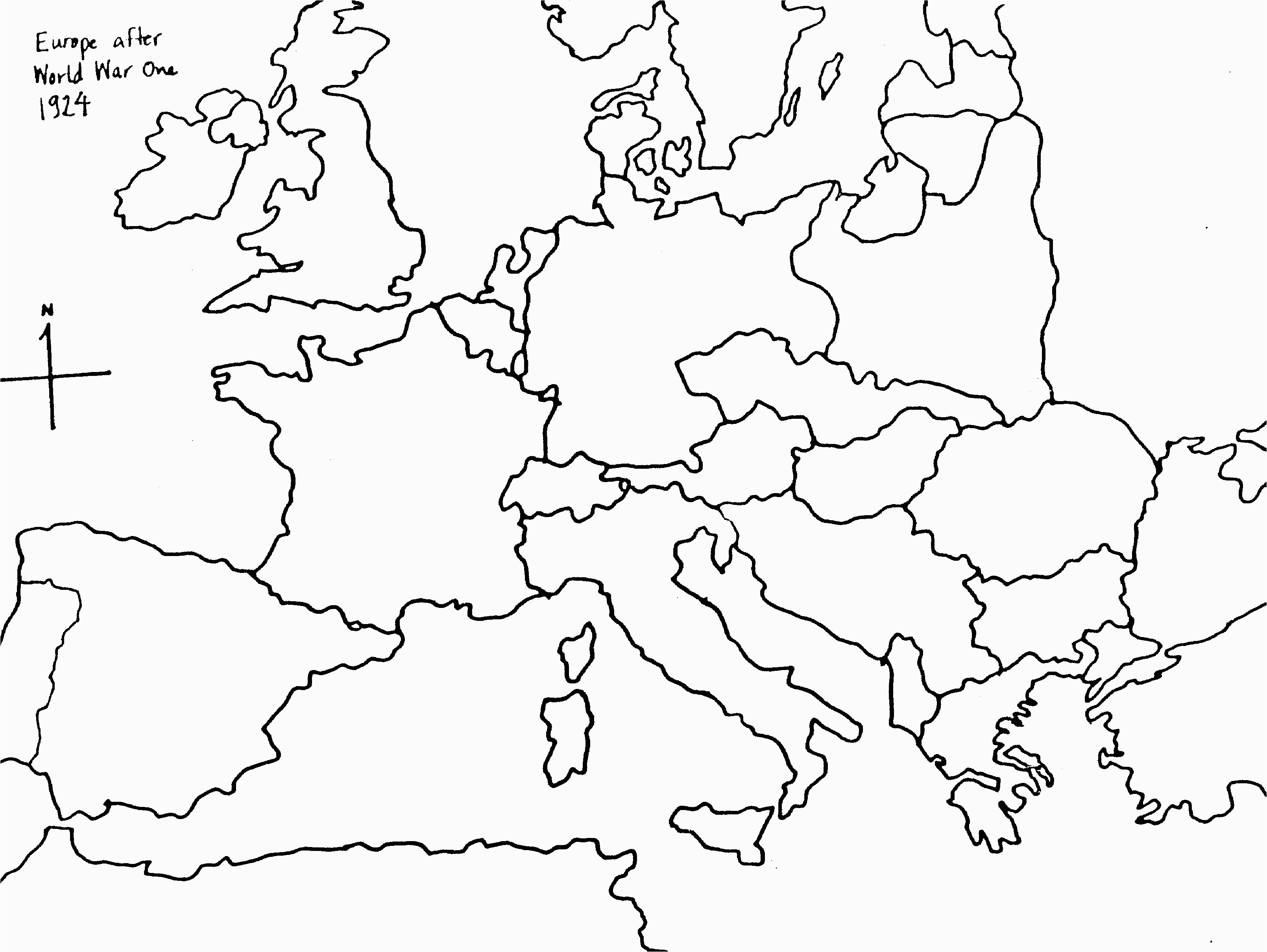 24 elaborated germany map empty
