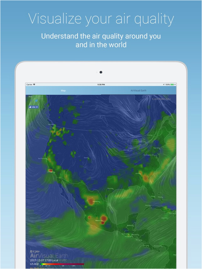 airvisual air quality forecast on the app store