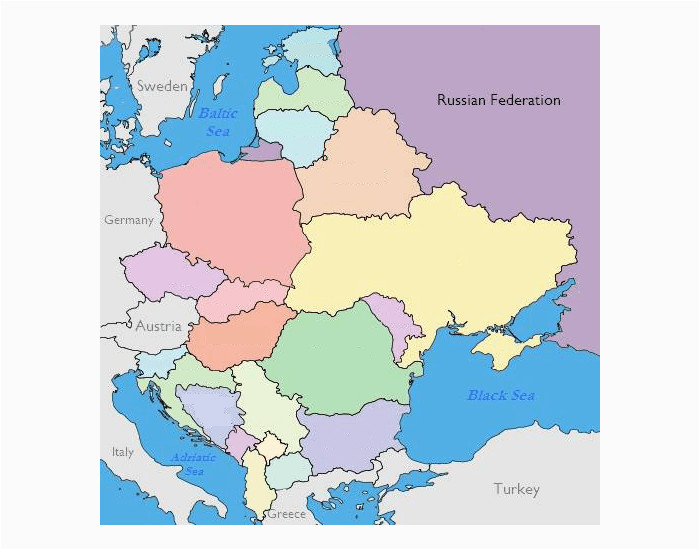 Europe and Russia Map Quiz 17 Actual Eastern Europe and Russia Map