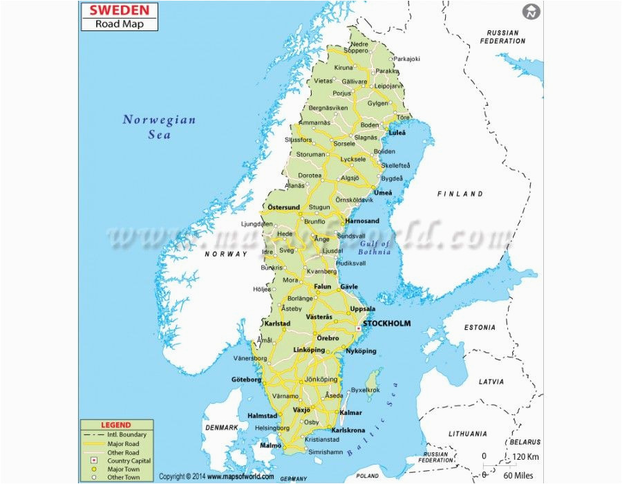 buy sweden road map country maps sweden map country