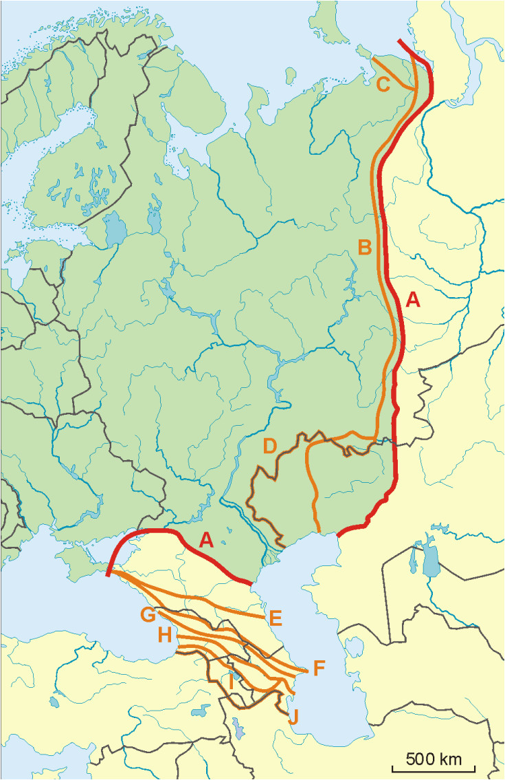 Europe asia Border Map File Possible Definitions Of the Boundary Between Europe and